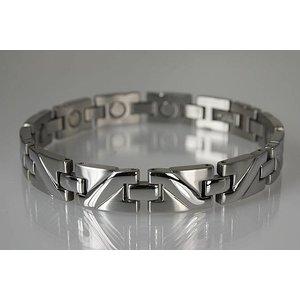 8025S Herren Magnetarmband Silber