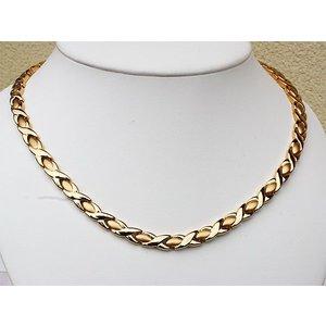 H9024G Magnetschmuck Damen-Halskette 24 Karat vergoldet
