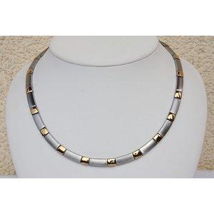 H9058G Halskette Silberfarben