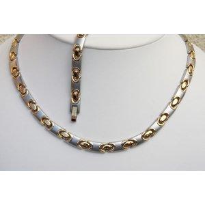 H9011B-Set Magnetschmuck Halskette und Armband im Set