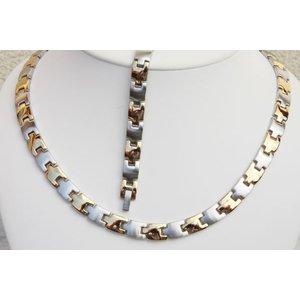 H9015B-Set Magnetschmuck Halskette und Armband im Set