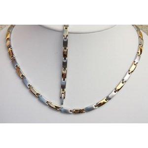 H9031B-Set Magnetschmuck Halskette und Armband im Set