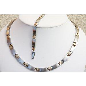 H9084BZ-Set Magnetschmuck Halskette und Armband