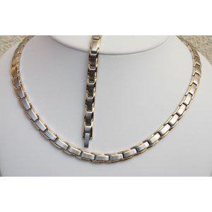 HG9012B-Set Magnetschmuck Halskette mit Germanium und Armband im Set