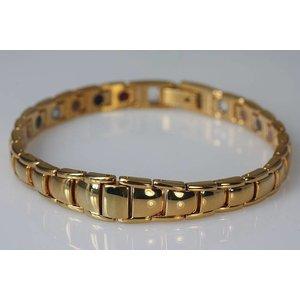G8463G Germanium-Magnetarmband Gold