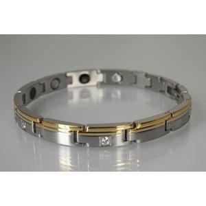 G8563BZ Damen-Magnetarmband bicolor