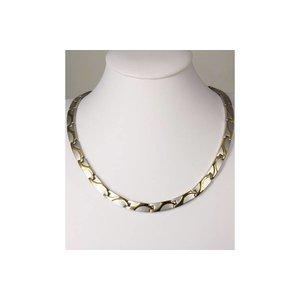 H9055B Magnetschmuck Halskette Wellen-Design
