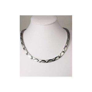 H9055S Magnetschmuck Halskette Silber
