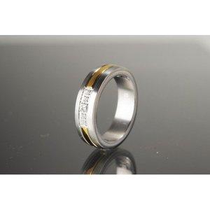 R694 Magnetschmuck mittig vergoldet
