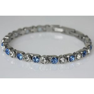 NEU! 8410A Magnetschmuck Armband mit Zirkonia blau