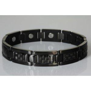 NEU! T8985 Schwarzes Titan Magnetschmuck Herrenarmband