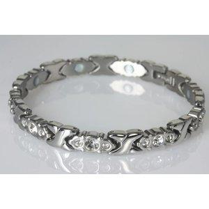 8170SZ Magnet Damenarmband im Stil Silber