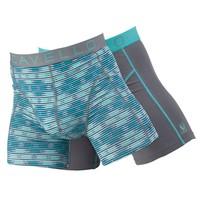 Cavello Underwear Two-pack Boxershorts ruiten & effen grijs