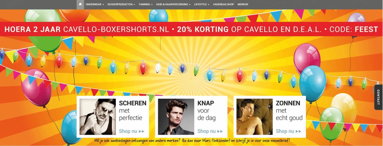 Cavello-boxershorts.nl is volledig vernieuwd