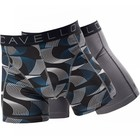 Cavello Underwear Two-pack Boxershorts spiraal motief en effen grijs met zwarte streep