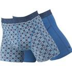 Cavello Underwear Two-pack boxershorts blauw bloemmotief en effen blauw