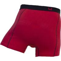 Cavello Underwear Two-pack boxershorts effen rood en rood met ruitmotie