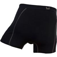 Cavello Underwear Two-pack boxershorts effen zwart en zwart met grijsblauw/taupe motief