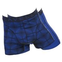 Cavello Underwear Two-pack boxershorts koningsblauw motief en effen model