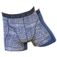 Cavello Underwear Two-pack boxershorts Two-pack boxershorts Blauw motief en blauw effen