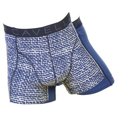 Cavello Underwear Two-pack boxershorts Blauw motief en blauw effen