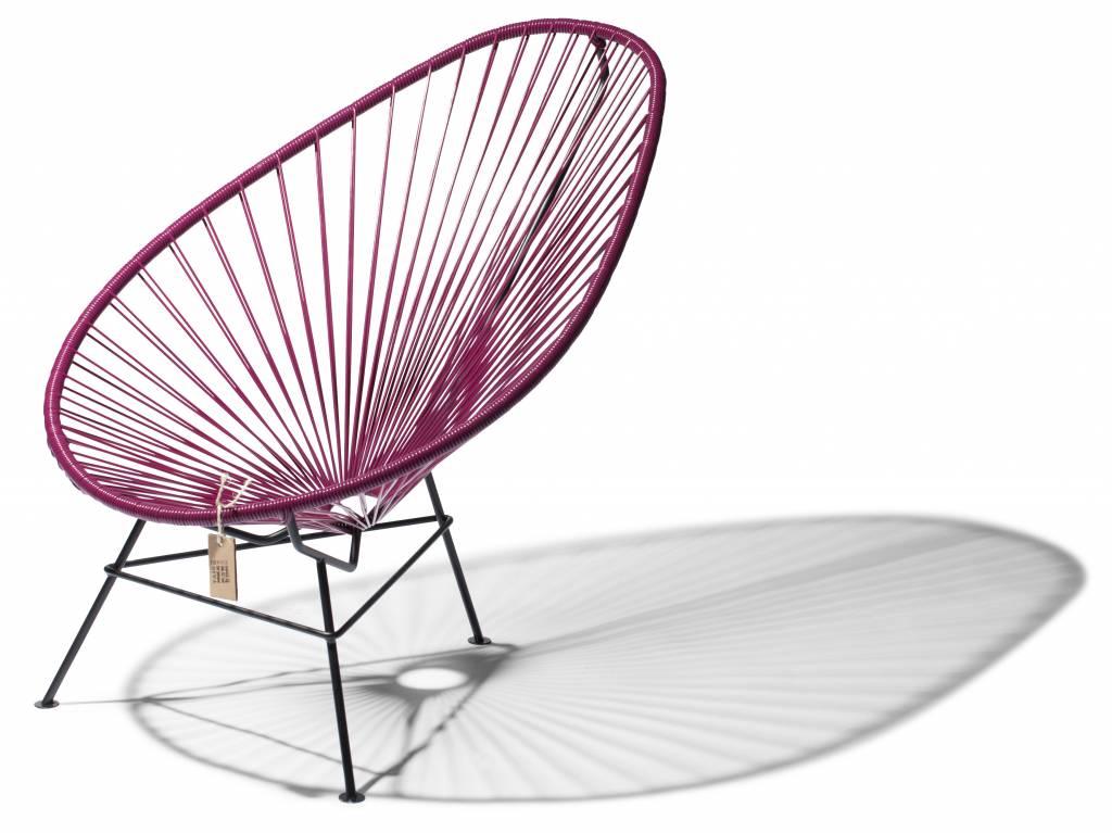 fauteuil acapulco en couleur vin violet le fauteuil acapulco authentique. Black Bedroom Furniture Sets. Home Design Ideas