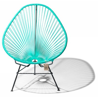 Fauteuil Acapulco turquoise, design mexicain.