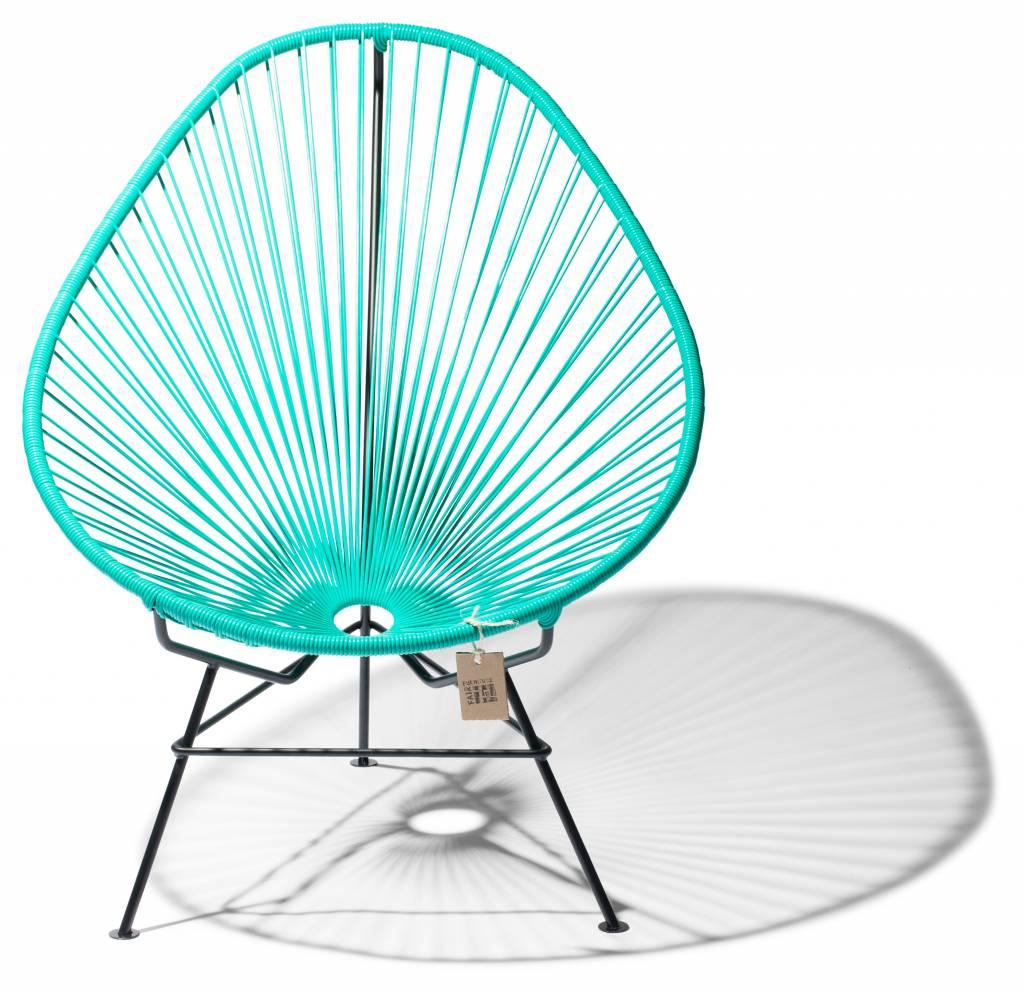 chaise acapulco turquoiseblanc classique le fauteuil acapulco authentique. Black Bedroom Furniture Sets. Home Design Ideas