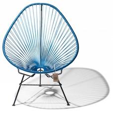 Chaise Acapulco bleu de cobalt/métallique