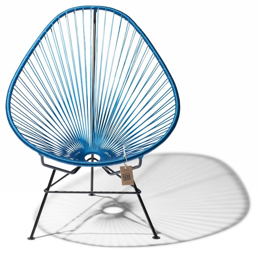 La silla acapulco azul met lico con base en negro for Silla acapulco