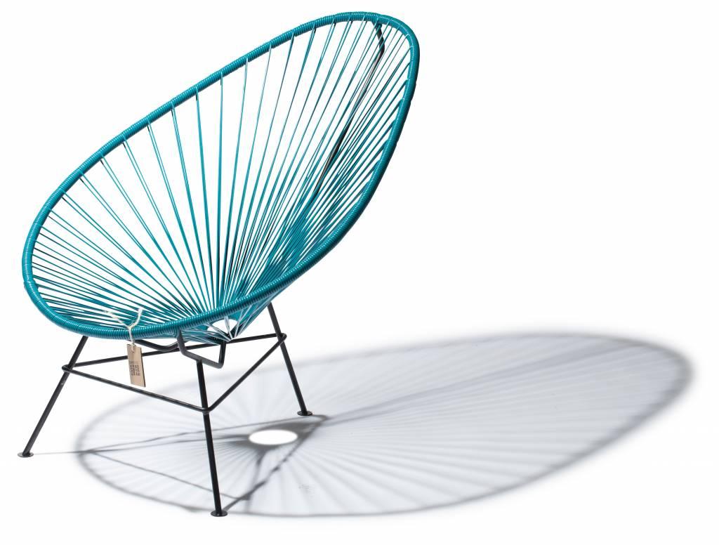 Fauteuil acapulco en couleur bleu p trole le fauteuil - Fauteuil bleu petrole ...