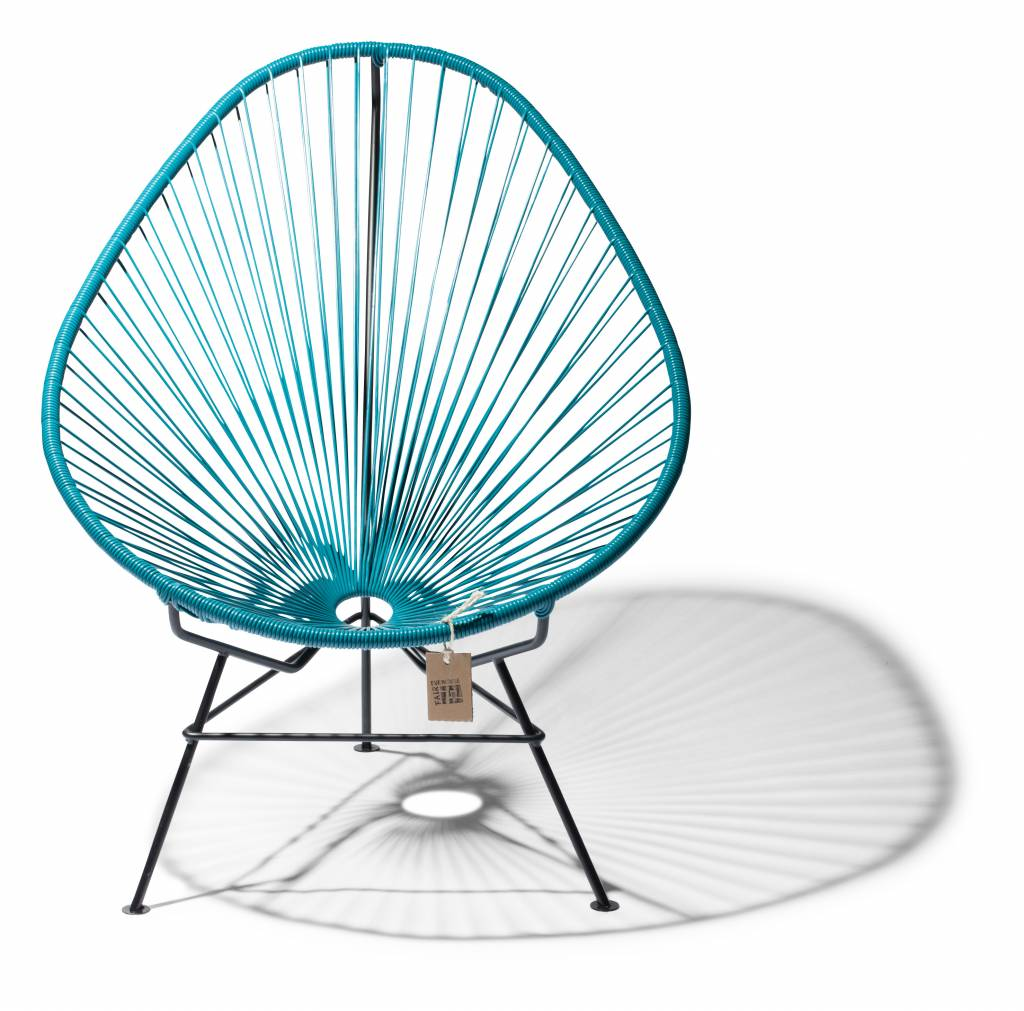 Acapulco Chair Petrol Blue With Black Frame
