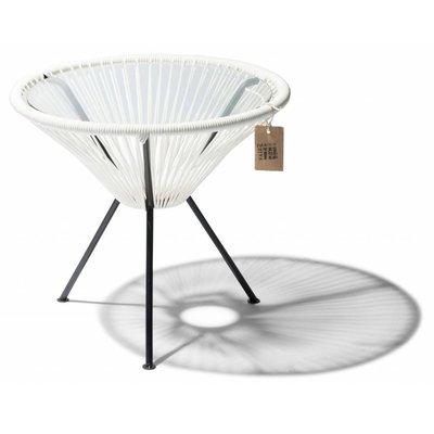 tisch jap n wei mit glastischplatte acapulco st hle. Black Bedroom Furniture Sets. Home Design Ideas