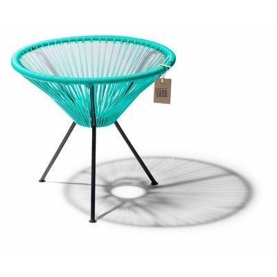 Table Japón turquoise avec plateau en verre