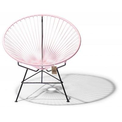 Condesa chair pink pastel, handmade, black frame