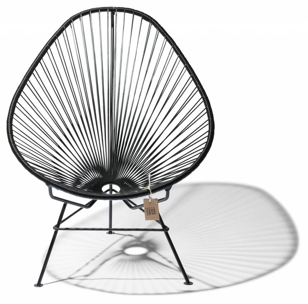 fauteuil acapulco noir classique le fauteuil acapulco authentique. Black Bedroom Furniture Sets. Home Design Ideas