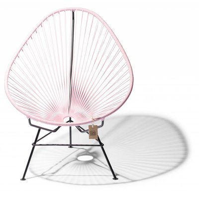 Acapulco chair pink pastel, black frame