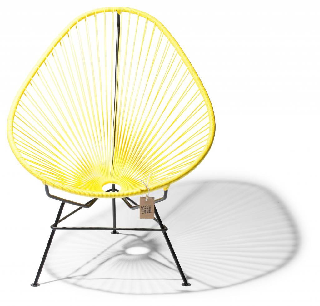Beau Handmade Acapulco Chair Canary Yellow With Black Frame