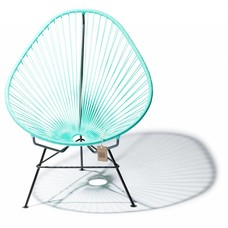 Fauteuil Acapulco turquoise clair