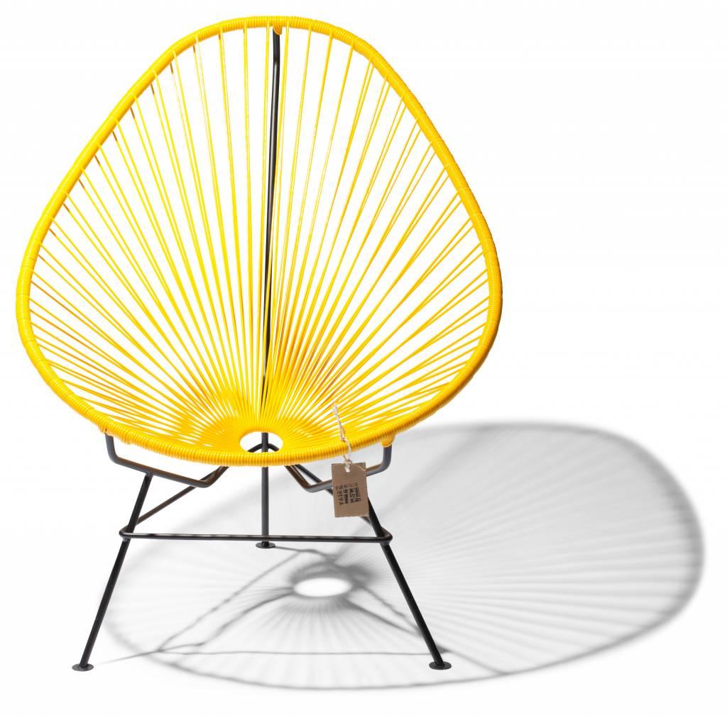 chaise acapulco originale en couleur jaune l gant le. Black Bedroom Furniture Sets. Home Design Ideas