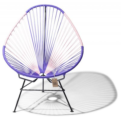 Acapulco chair Bicolor purple & pink
