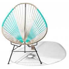 Fauteuil Acapulco beige & turquoise