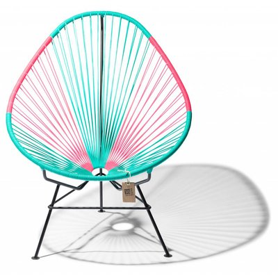 Acapulco chair turquoise & Mexican pink