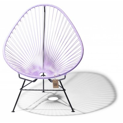 Lilac Acapulco chair with black frame
