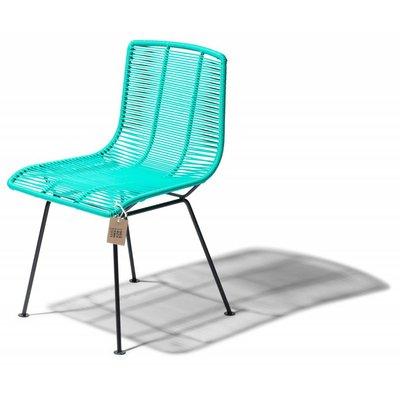 Chaise de salle à manger aqua turquoise