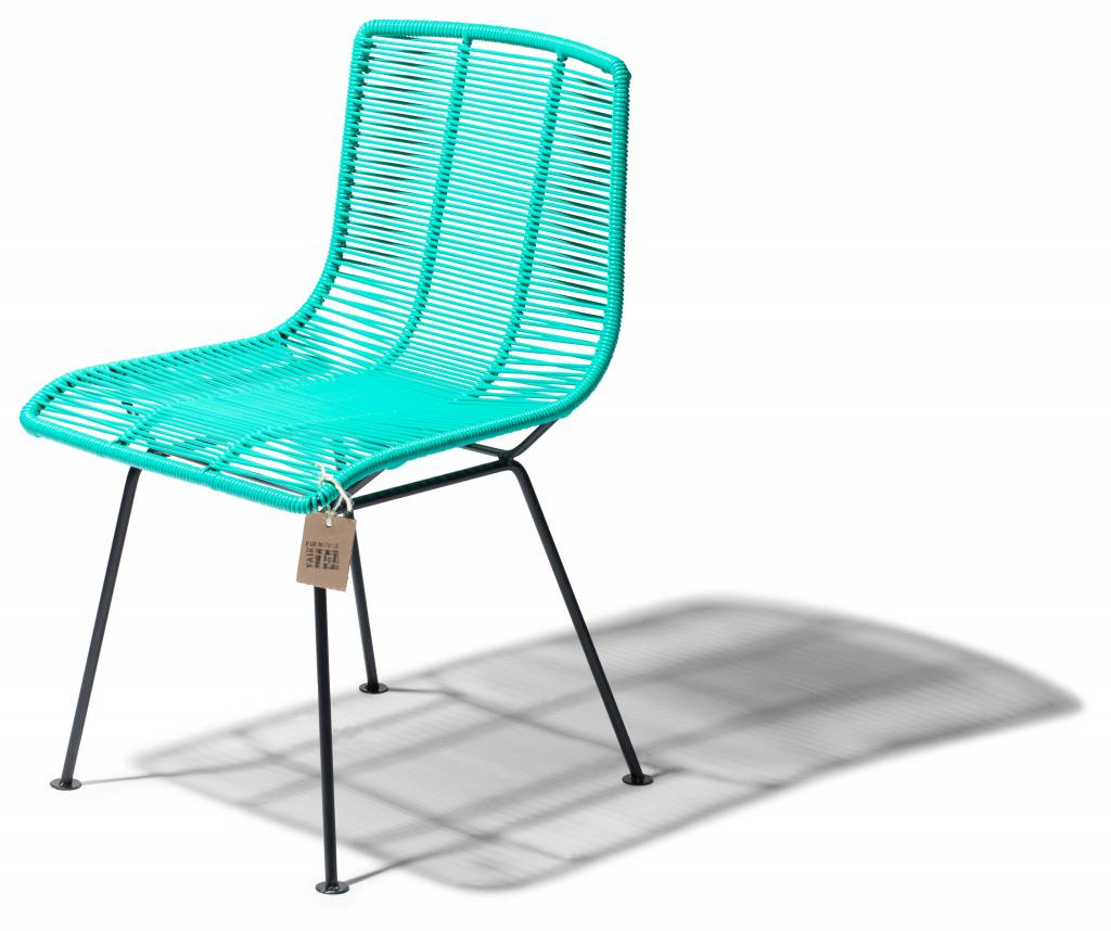 Rosarito handwoven dining chair checked by Fair Furniture  : rosarito dining chair aqua turquoise from www.sillaacapulco.com size 1024 x 858 jpeg 69kB