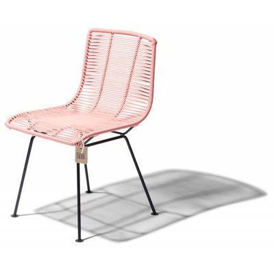 Rosarito dining chair pink salmon