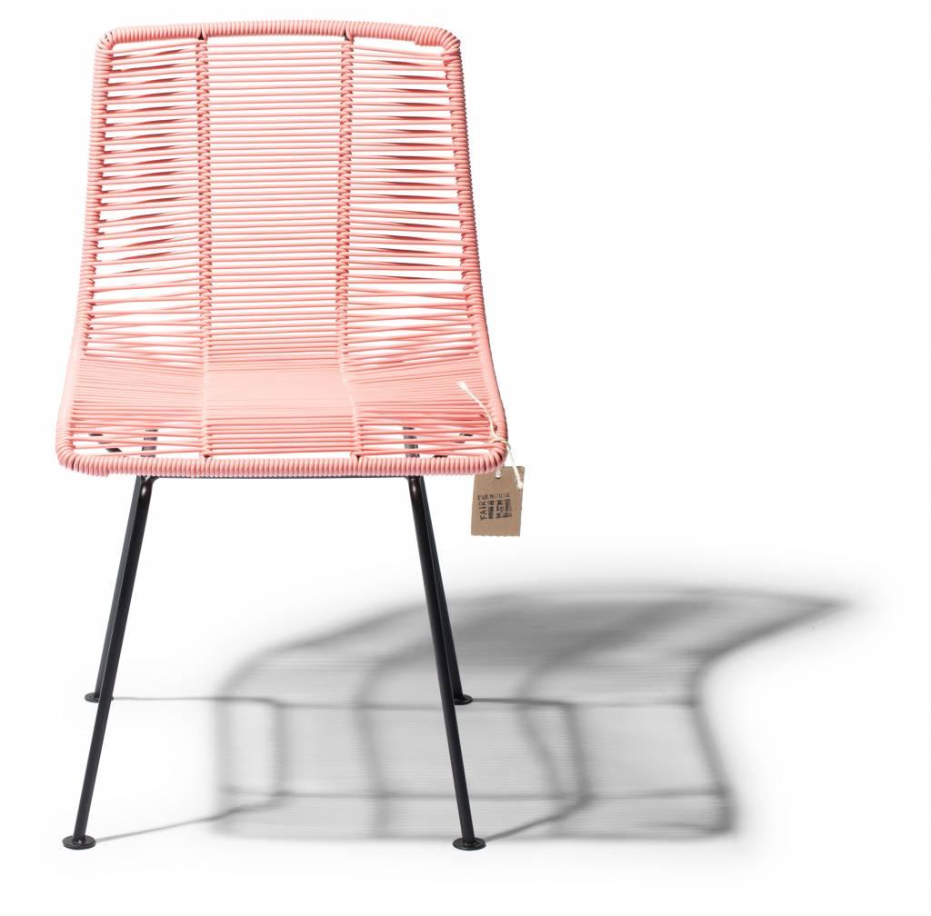 Chaise de salle manger rose saumon le fauteuil for Chaise de salle a manger originale