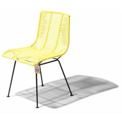 Chaise de salle à manger jaune canari