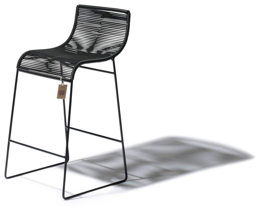 Sedia da bar zicatela nera sedie originali acapulco